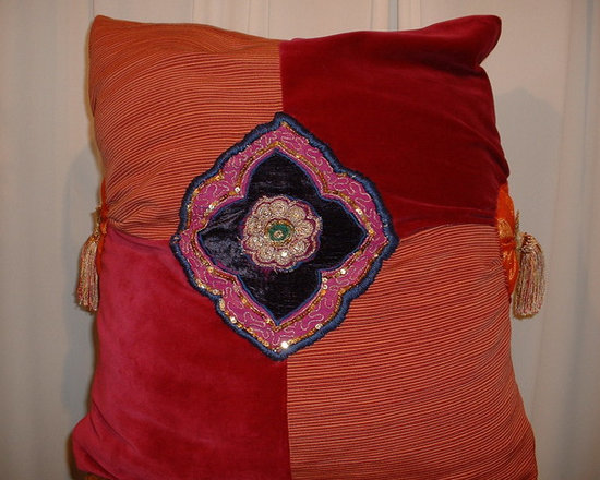 Pillows for clients created out of Vintage pieces -