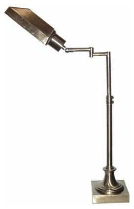 4D Concepts Victoria Swing Arm Task Lamp in Antique Brass contemporary-desk-lamps