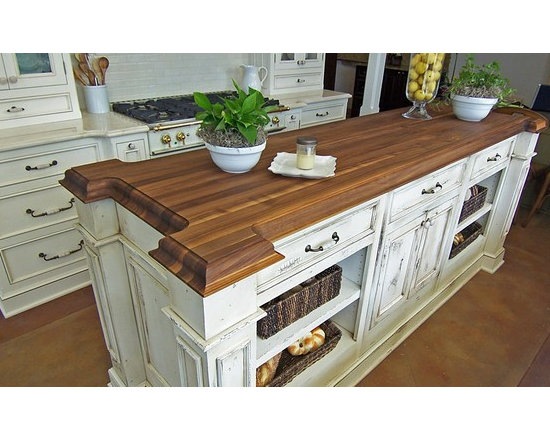 Walnut Kitchen Island Countertop. Designed by Artisan Kitchen and Bath. 2 - http://www.glumber.com/