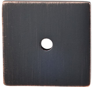 "Square Backplate 1 1/4"" - Tuscan Bronze modern-home-improvement"