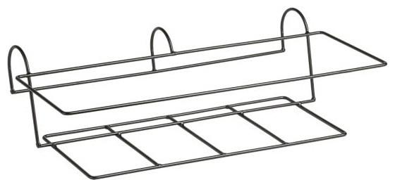 Zinc Rectangular Rail Hook modern-hooks-and-hangers