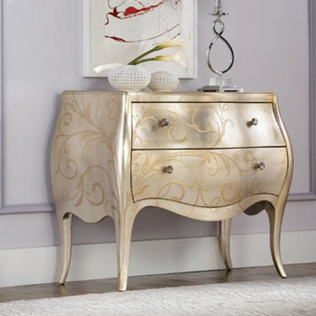 American Drew 908-946 Jessica Mcclintock Couture Accent Silver Leaf Chest traditional-dressers-chests-and-bedroom-armoires