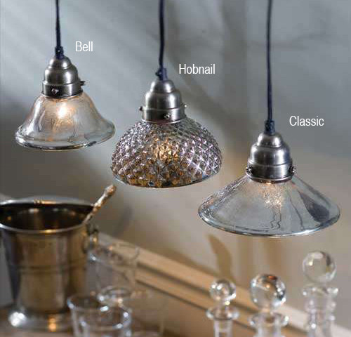 Mercury Glass Pendant Lamps eclectic pendant lighting