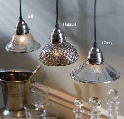 Mercury Glass Pendant Lamps eclectic-pendant-lighting