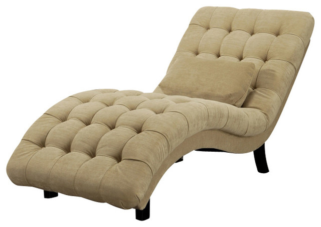 Soho tufted chaise lounge by abbyson living contemporary for Abbyson living soho cream fabric chaise
