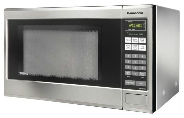 Panasonic 1.2 Cubic-Foot 1300W Microwave- Stainless Steel contemporary-microwave