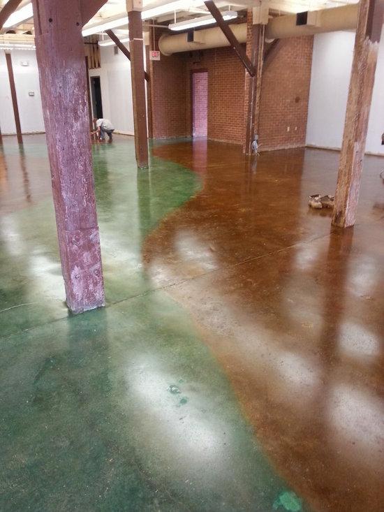 Interior Floor - Stained Concrete -