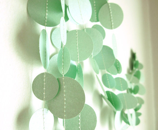 Shimmer Mint Garland by Art's Delight contemporary-home-decor