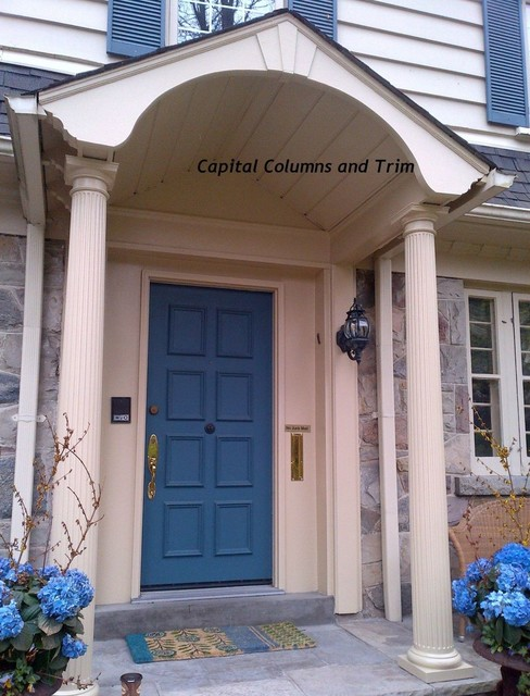 Fluted round fiberglass columns for 10 foot porch columns