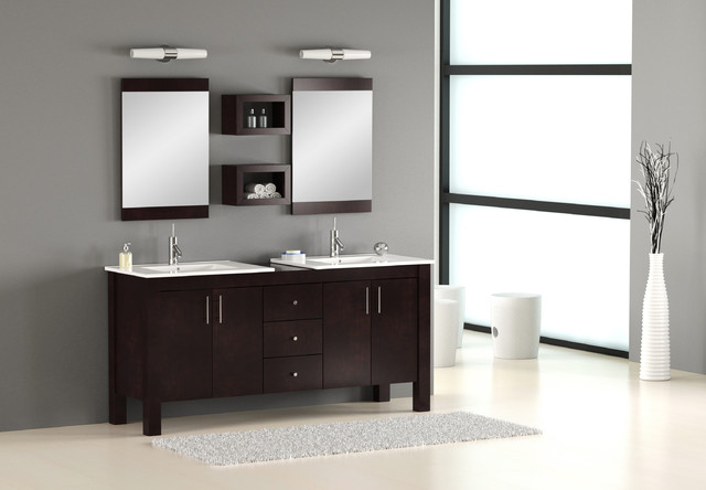 Double Sink Bathroom Vanity - contemporary - bathroom vanities and