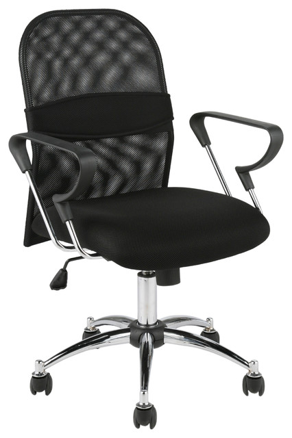 Marlin Mesh Office Chair-Black/Chrome contemporary-office-chairs