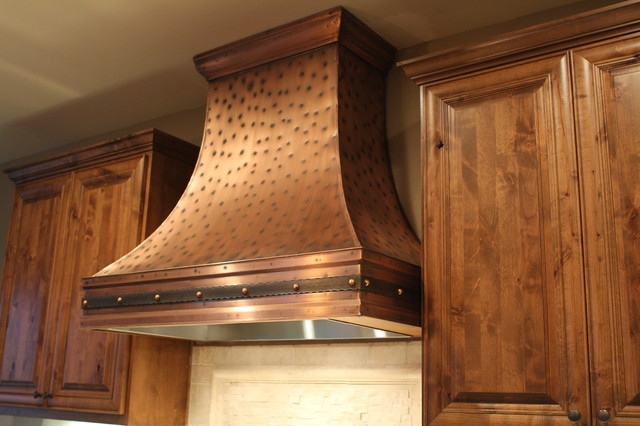 Berenice Copper Range Hood By Art Of Rain Traditional Range Hoods And Vents Portland