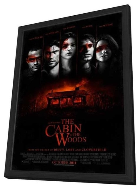 The Cabin in the Woods 11 x 17 Movie Poster - Style A - in Deluxe Wood Frame prints-and-posters