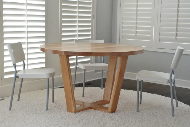 Angled Leg Round Table - modern - dining tables - kansas city - by