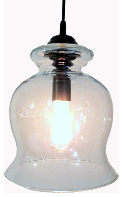 BoothBay Harbor Clear PENDANT Light with Edison Bulb Oil