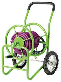 Deluxe Garden Hose Cart contemporary gardening tools