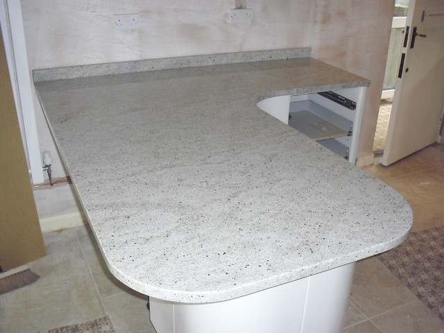 Kashmir White Granite Curved Peninsula Traditional Manchester Uk