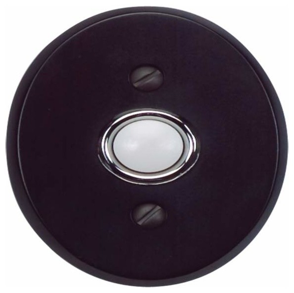 Atlas Homewares Db646-Bl Traditionalist 3-Inch Doorbell Button, Black traditional-doorbells-and-chimes