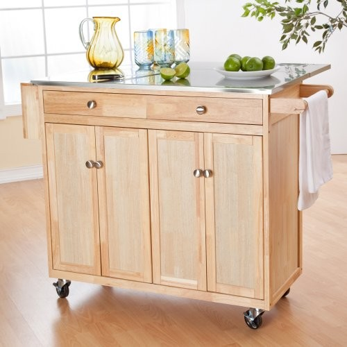 The Milano Portable Kitchen Island with Optional Stools traditional-kitchen-islands-and-kitchen-carts