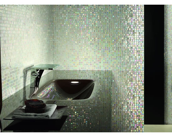 Mosaico + glass tile - Glass tile mosaic perle iridescent