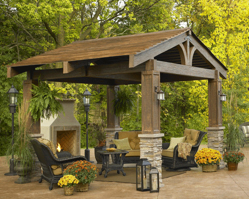 The Lodge - traditional - gazebos - by The Deck Store Online