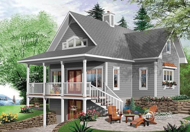 Beautiful Lake Cottage Design 2939 V1 By Drummond House