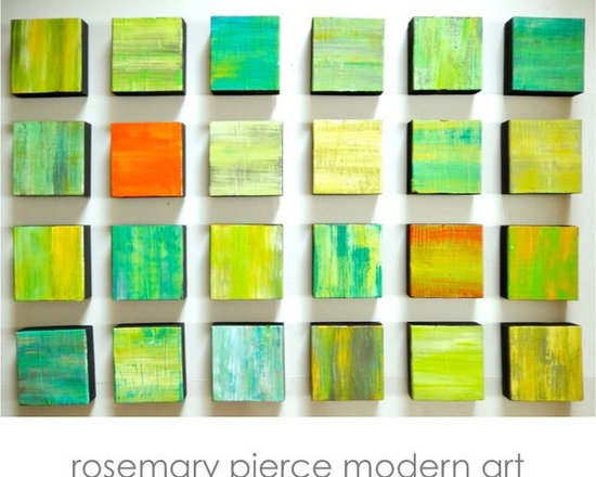 Rhapsody 5.5 in yellow and green - original art - original wall sculpture by Rosemary Pierce (Rosemary Pierce Modern Art)  www.artbyRosemary.com
