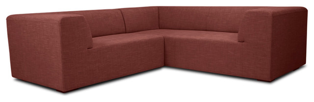 Seed II Red Modular Sofa Set Left contemporary sectional sofas