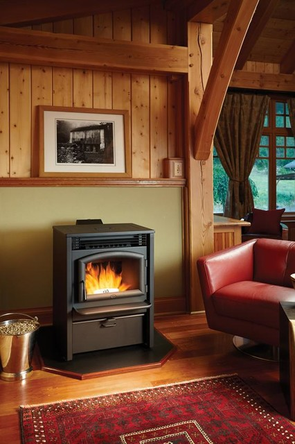 Lopi AGP Pellet Stove traditional-fireplaces