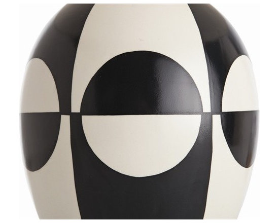 Arteriors Whistler Black/Ivory Pattern Porcelain Lamp -