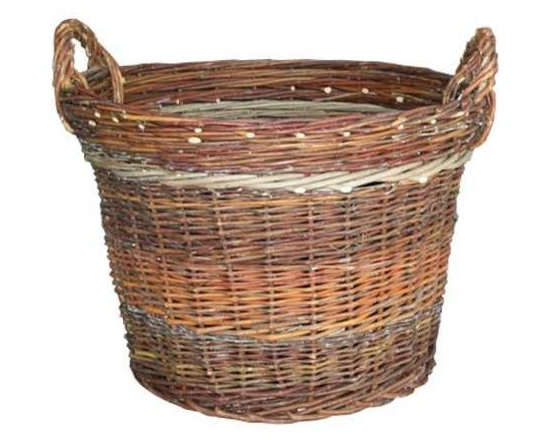 Swiss Ammo Basket - Woven willow & 1920's swiss army ammo baskets in woven willow with handles.
