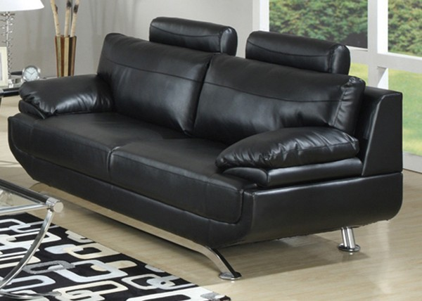 AC Pacific Furniture Jessica Bonded Leather Sofa in