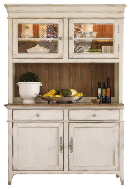 Hooker Furniture Chic Coterie Buffet and Hutch in Antique White - Transitional - Buffets And ...