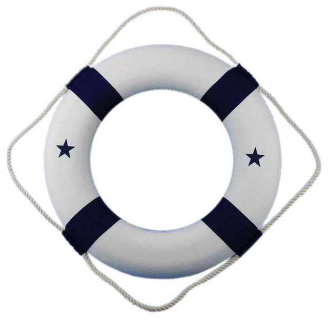 Blue and White Lifering 30'' Decorative Life Rings Life Ring For Sale - Brand N - Beach Style ...