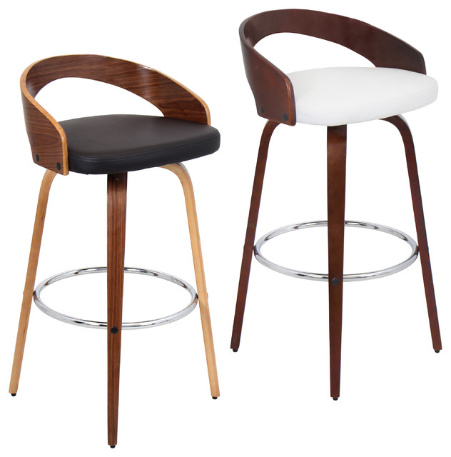 Grotto Wood Barstool Contemporary Bar Stools And  : contemporary bar stools and counter stools from houzz.com size 632 x 640 jpeg 60kB