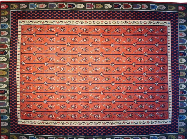Turkish Kilim Hand Woven Flat Weave Mansion Size Sh8546 transitional-rugs