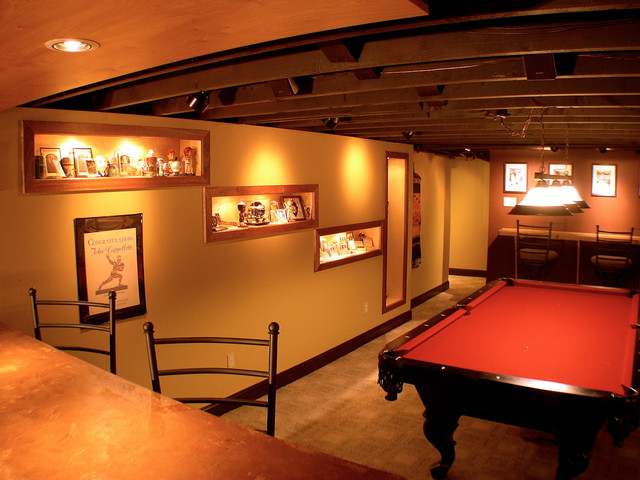 Basement Ideas Man Cave : Man Cave Ideas Basement Sports themed man cave