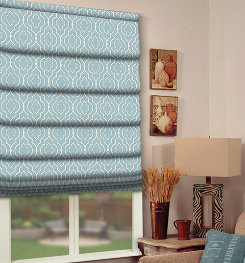 Roman Blicds, Blinds, Roller Blibds, Blue, Light Blur