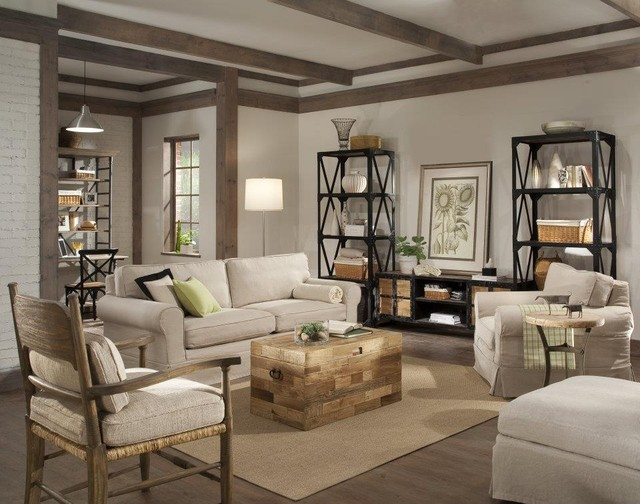 Industrial Style Eclectic Living Room - Eclectic - Living Room ...