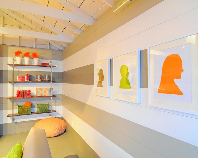 HGTV Garage Turned Lounge modern