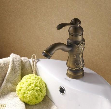 JollyHome Sculpture Bathroom Faucets Brass Bronze modern-kitchen-faucets