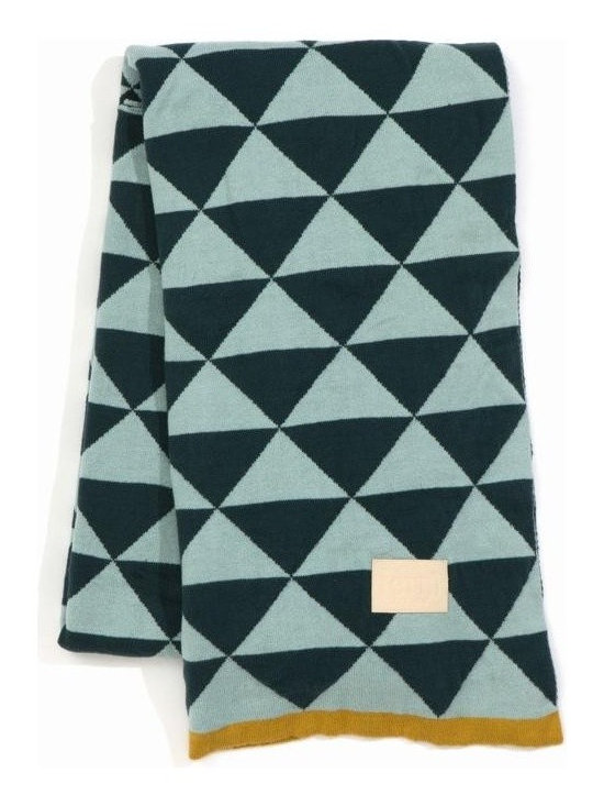 Ferm Living Remix Blanket - Ferm Living used its Remix print to make this gorgeous jacquard Knit Blanket. You can throw it on your couch, put it on your bed or use it to stay warm on a cool night.