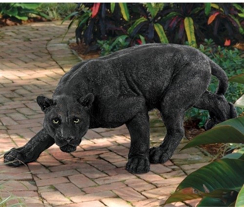 Shadowed Predator Panther Statue - modern - garden sculptures - by ...