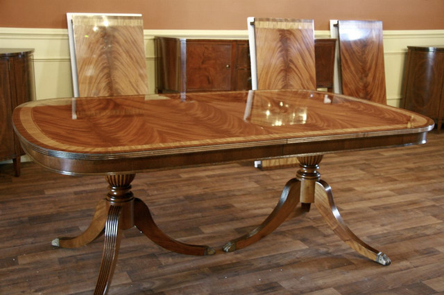Fine High End Large Mahogany Dining Table Seats 12 to 14  : traditional dining tables from houzz.com size 640 x 426 jpeg 79kB