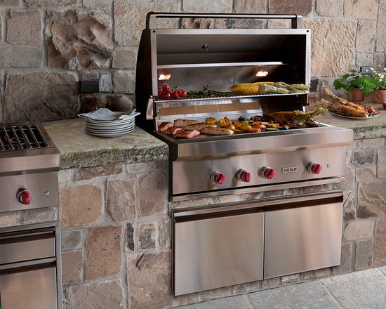 STUNNING Grills & BBQ Oven out of Antique Limestone (Mediterranean Style) -