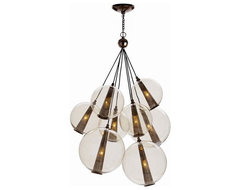 Caviar Pendant Cluster -Brown Nickel modern chandeliers