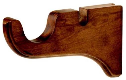 Kirsch 2 Inch Wood Trends Double Drapery Bracket