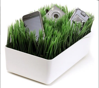Grassy Lawn Charging Station eclectic-desk-accessories