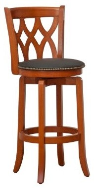 Boraam Cathedral 29 in. Swivel Bar Stool - Light Cherry contemporary-bar-stools-and-counter-stools