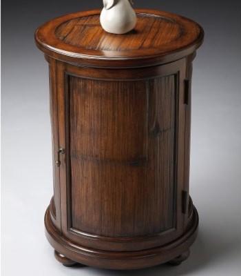 Butler Drum Table - Heritage modern-indoor-pub-and-bistro-tables